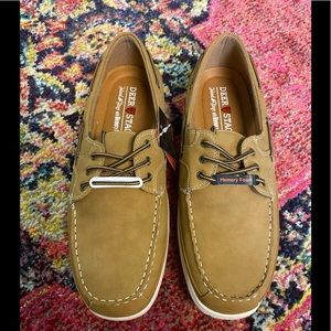 New Dockside Shoes Tan with Laces Size 8 and 13
